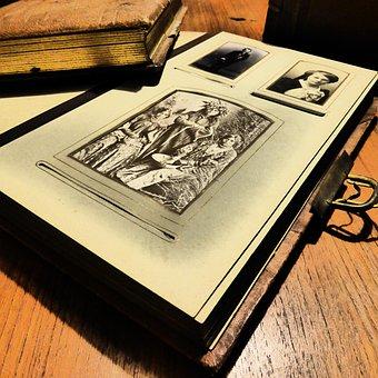 Photo Album, Album, Book, Antiquariat, Old, Old Book