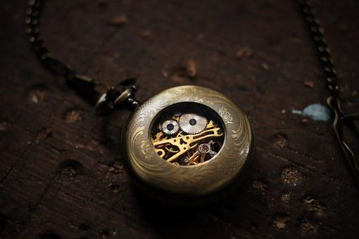 Timepiece, Clock, Pocketwatch, Dial, Old, Gears, Gold