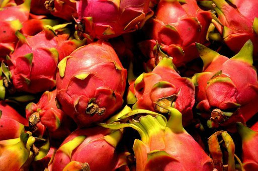 Dragon Fruit, Fruit, Food, Pitaya, Pitahaya, Tropical