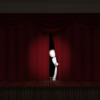 Stage, Theater, Start, Show, Curtain, Red