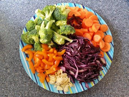 Vegetables, Fresh, Stir Fry, Healthy, Food, Vegetarian