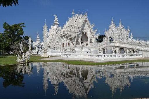 Wat Rong Khon, White Temple, Thailand, Central Asia