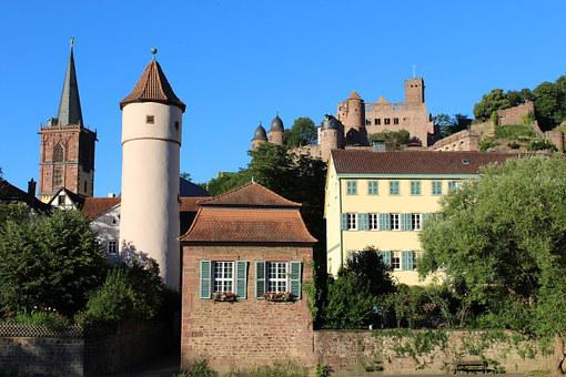Wertheim Am Main, Castle, Tower, Steeple, Sand Stone