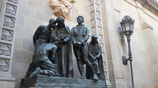 Wise Men, Barcelona, Statues