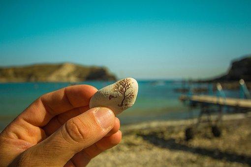 Stone, Laguna, Lulworth Cove, Nature, Manual, Art