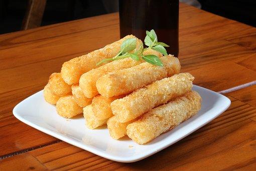 Cassava, Fries, Snack