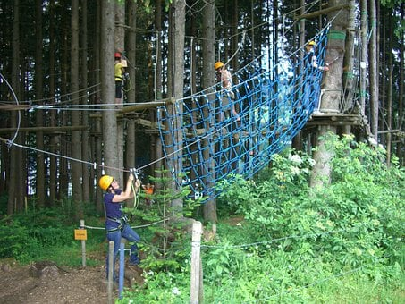 High Ropes Course, Climbing Forest, Gruentensee