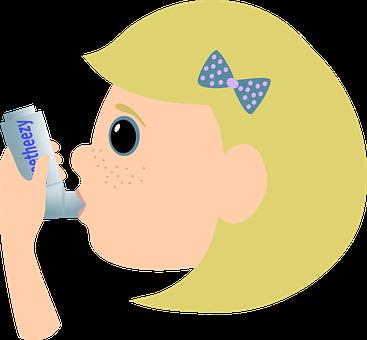 Asthma, Inhaler, Aerosol, Disease, Doctor, Girl, Health