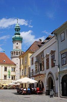 Hungary, Sopron Hungary, Main Square, Fire Tower