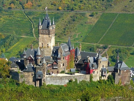 Castle, Architecture, Wall, Towers, Fortress, Mosel