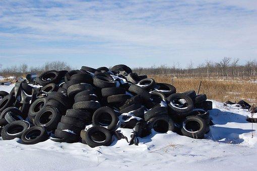 Landfill, Waste, Garbage, Recycle, Tires, Black