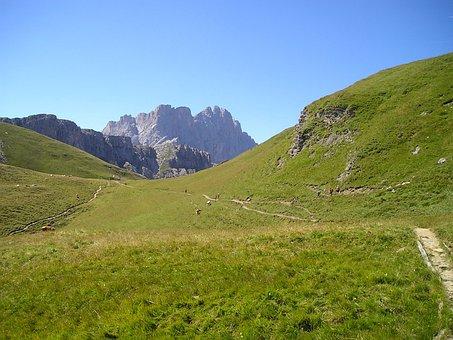 Geisler Range, Dolomites, Hiking, Mountains, Way, Trail