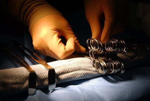 Surgical Instruments, Hands, Technician, Preparing
