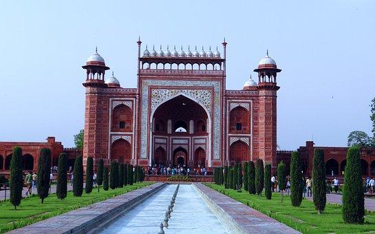 The Great Gate, Taj Mahal, Darwaza-i-rauza, Inside View