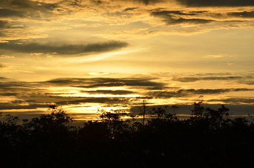Malaysia, Kota Kinabalu, Sunset, Sky, Clouds, Outdoors