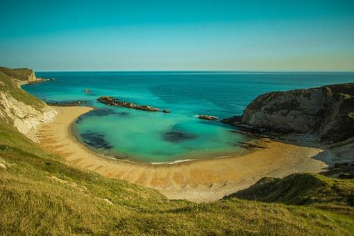 Durdle Door, Lulworth Cove, Ocean, Of The Sea, Country