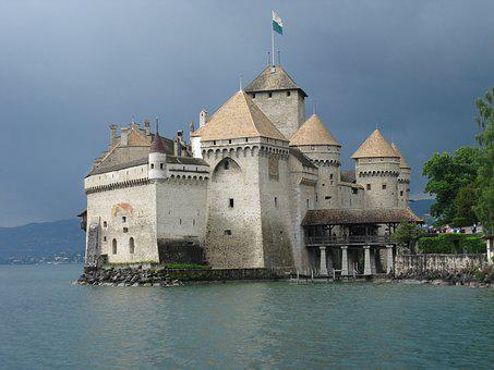 Chillon Castle, Montreaux, Switzerland, Chillon, Castle
