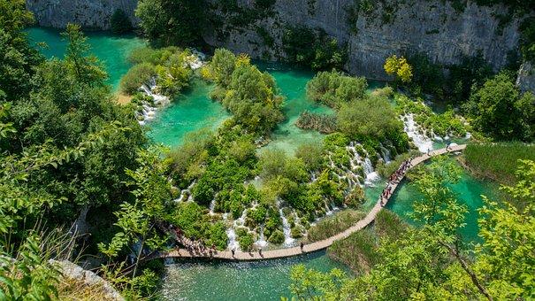 Croatia, Lake, Waterfall, National Park, Nature