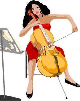 Girl, Play Cello, Instrument, Music, Classical, Sitting