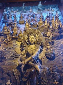 Buddha, China, Buddhism, Religion, Asia, Statue
