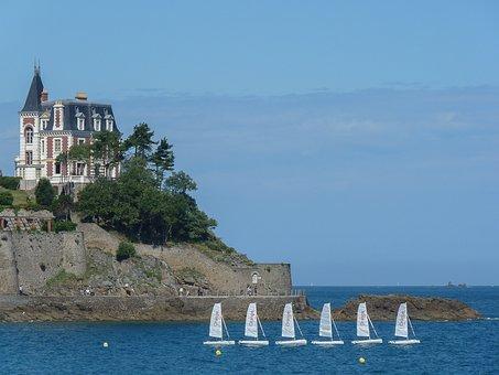 Brittany, Dinard, Sailboats, Architecture