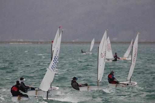 Sailing, Optimist, Sea