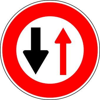 Oncoming Traffic Has Priority, Traffic Sign, Sign