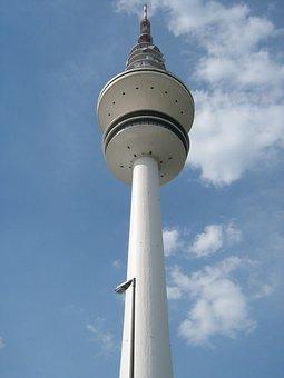 Tv Tower, Hamburg, City, Sky, Hoh