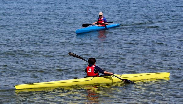 Sport, Canoeists, Canoeist, Lake, Water, Sparkle