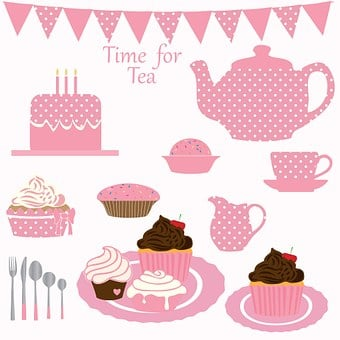 Tea, Party, Cupcake, Cake, Birthday, Birthday Cake
