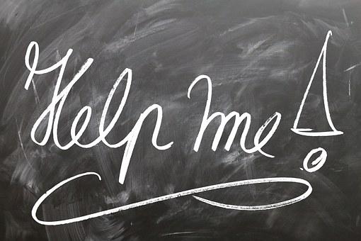 Help, Board, School, Support, Slate, Teaching, Chalk