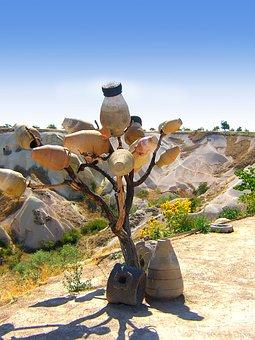 Pot, Tree, Desert, Trees, Elements, Drought, Decorative