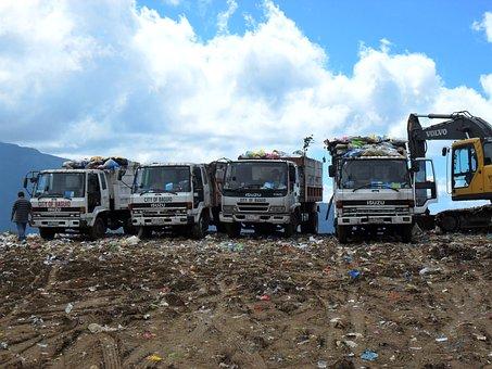 Garbage, Dump, Trucks, Site, Waste, Trash, Rubbish