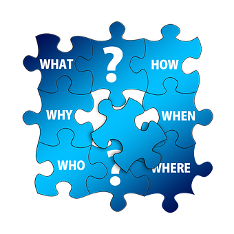 Questions, Puzzle, Who, What, How, Why, Where