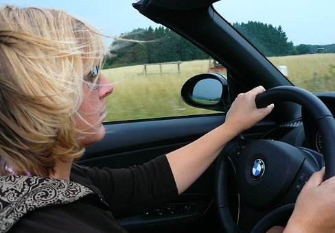 Woman, Person, Convertible, Cabriolet