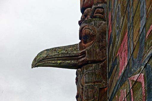 Motif, Bird, Wooden, Aboriginal, Canadian, Carving