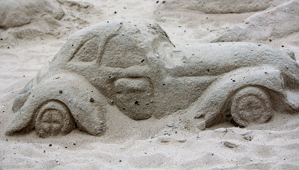 Sand, Motif, Water Construction, Art