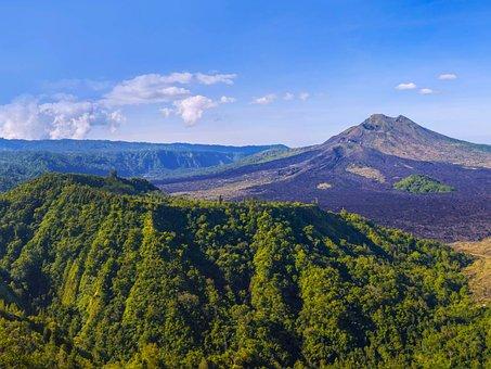 Bali, Nature, Mountain, Pond, Volcano, Tropical