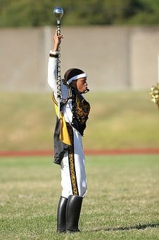 Drum Major, Band Leader, Football Game, Marching Band