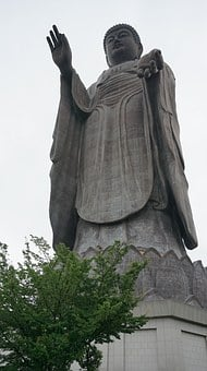Ushiku Daibutsu, Buddhist Monks Aminat Eyes, Statue
