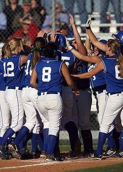 Softball, Team, Celebration, Victory, Winning, Game