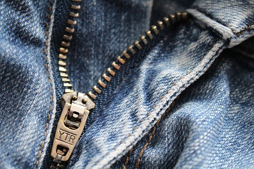Zip, Jeans, Clothing, Close Up, Metal, Fashion, Pants