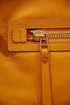 Zipper, Bag, Closure, Close, Leather