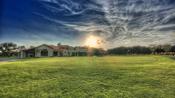 Club House, Green, Golf, House, Club, Play, Game, Sport