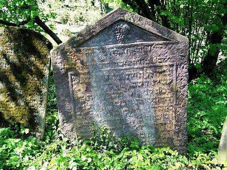 Cemetery, Jewish, Old, Kolin, Czech Republic, Ancient