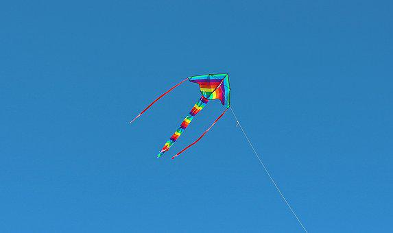 Kites Rise, Dragons, Fly, Sky, Wind, Flying Kites, Cord
