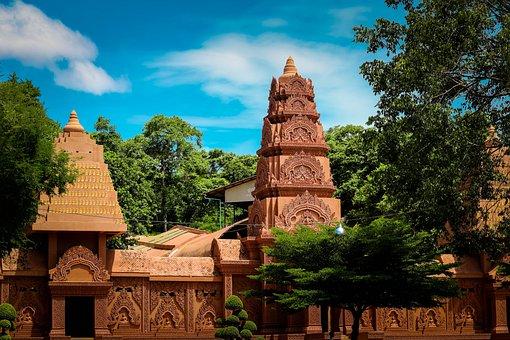 Measure, Sky, Thailand Temple, Thailand, Gold, Faith