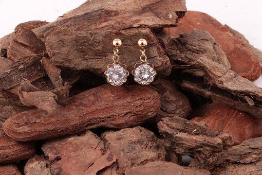 Earring, Jewel, Gold