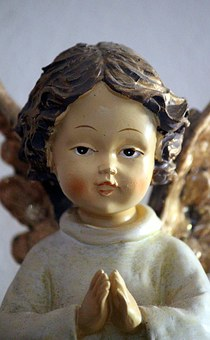 Angel, Fig, Pray, Ceramic, Art, Guardian Angel