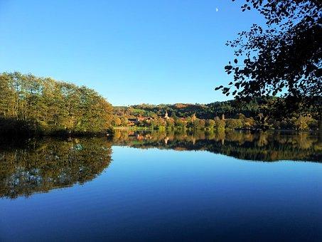 Lake, Saint-eloy-les-mines, Island, Landscape, Summer